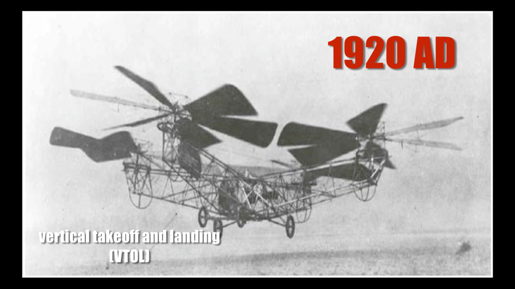 1920 AD vertical takeoff and landing (VTOL)