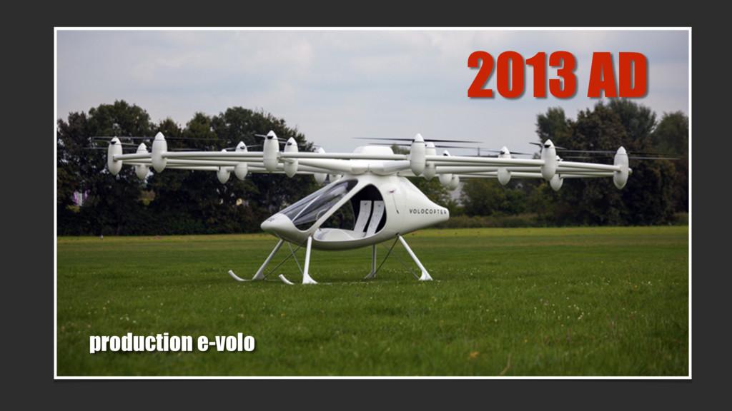 2013 AD production e-volo