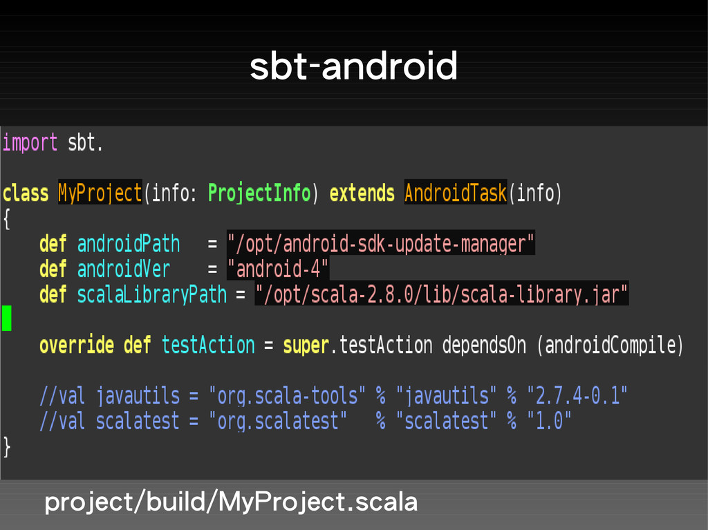 sbt-android project/build/MyProject.scala