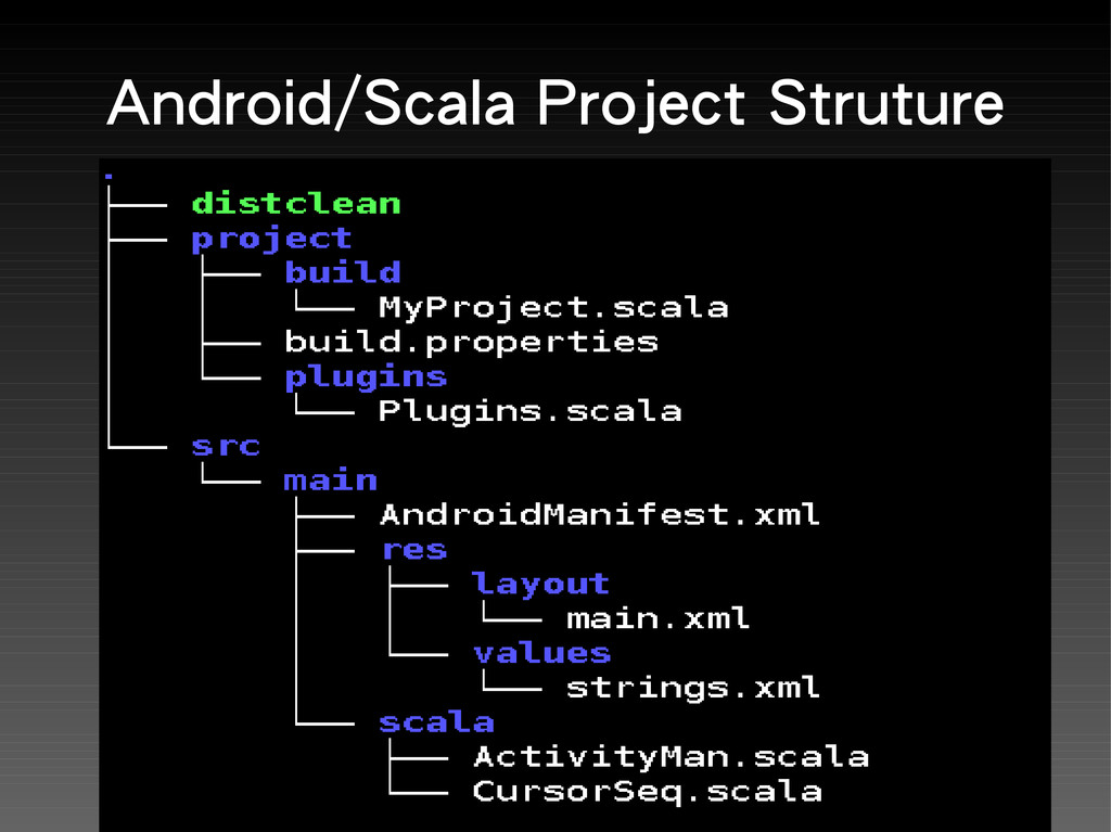 Android/Scala Project Struture
