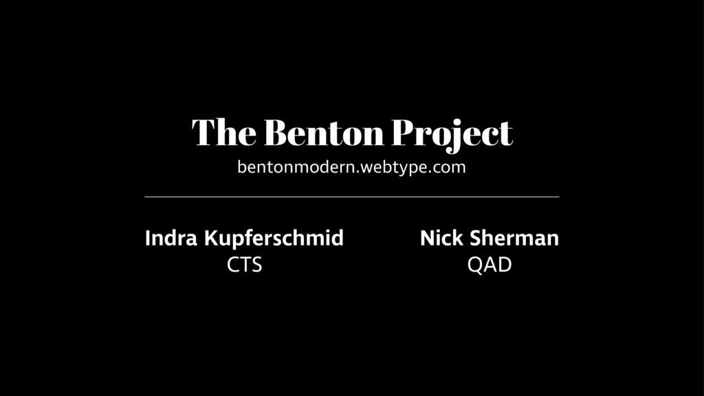 The Benton Project bentonmodern.webtype.com Ind...