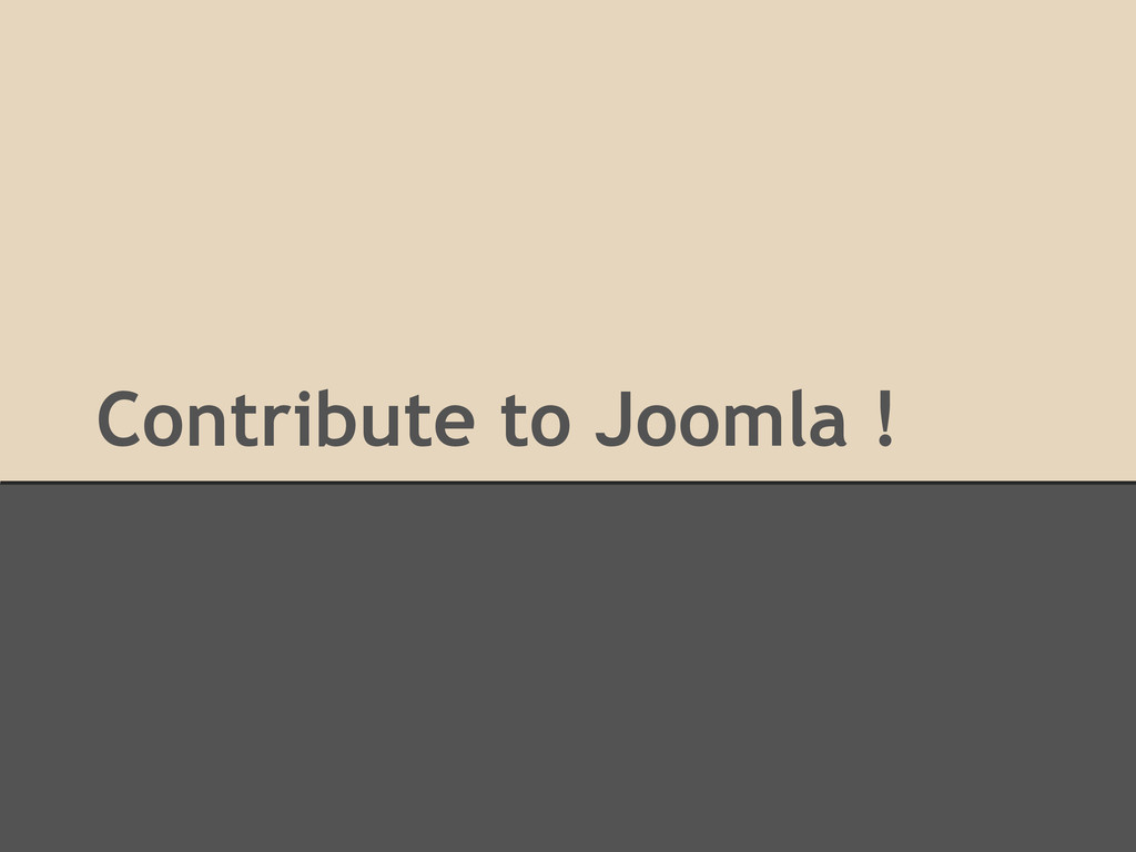 Contribute to Joomla !