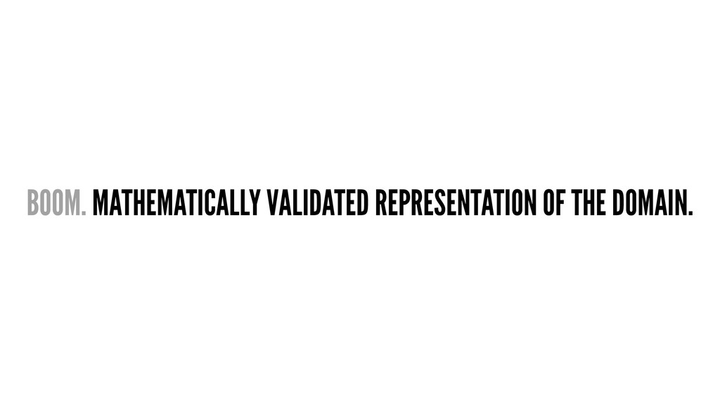 BOOM. MATHEMATICALLY VALIDATED REPRESENTATION O...