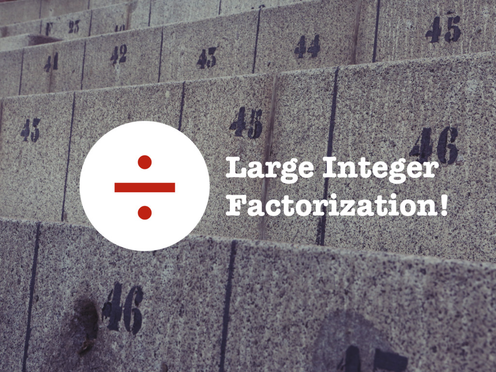 Large Integer Factorization! ÷