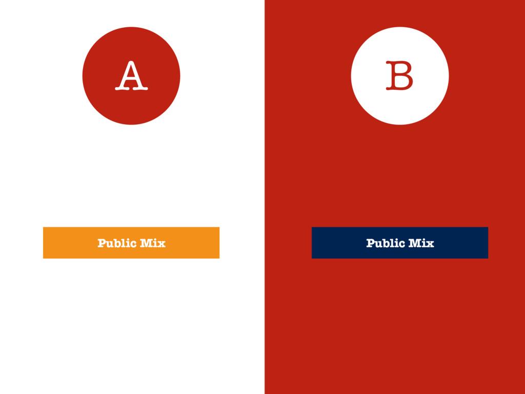 A B Public Mix Public Mix