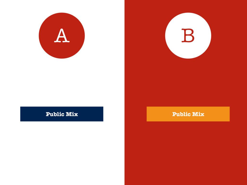 Public Mix A B Public Mix