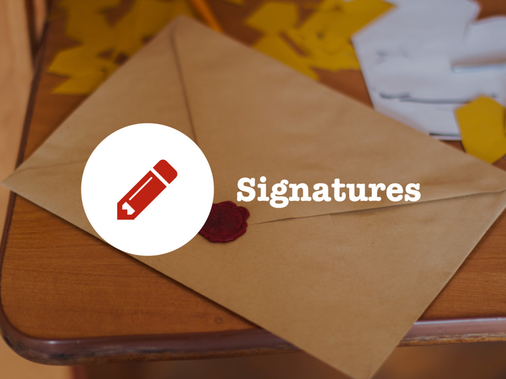 Signatures 5