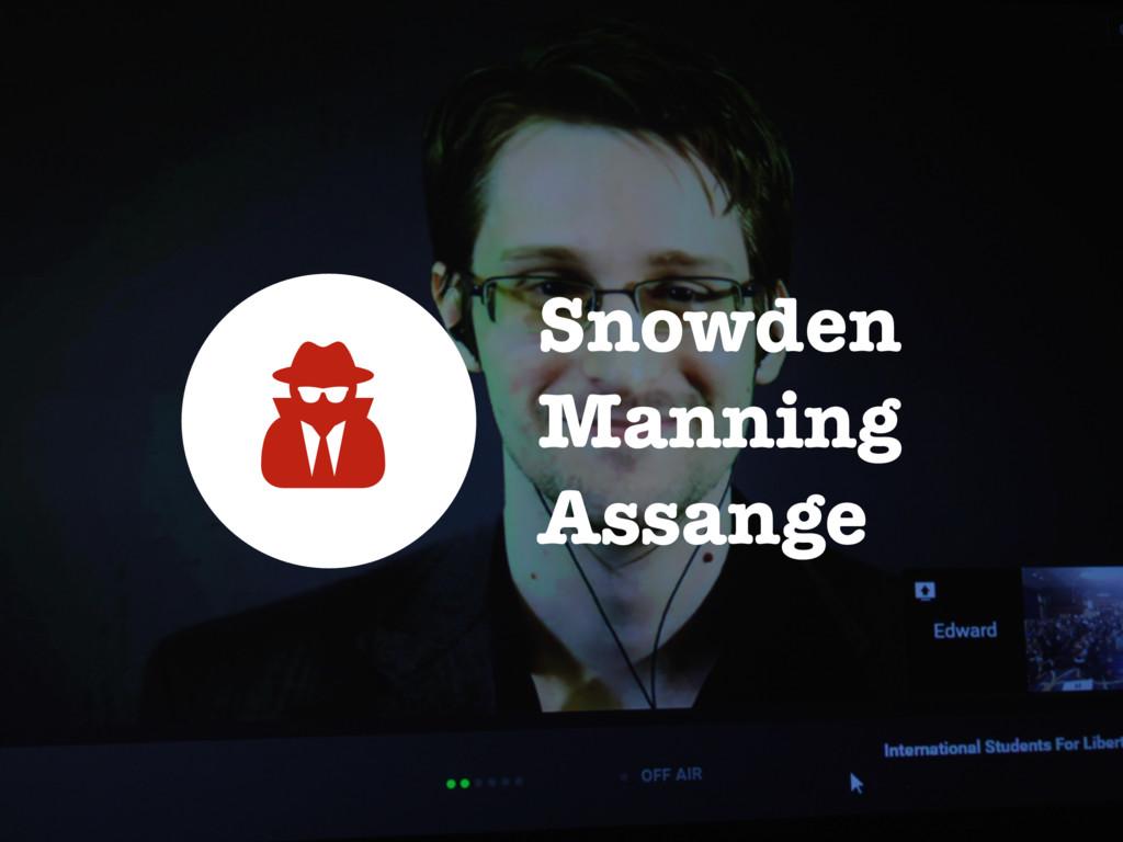 Snowden Manning Assange <