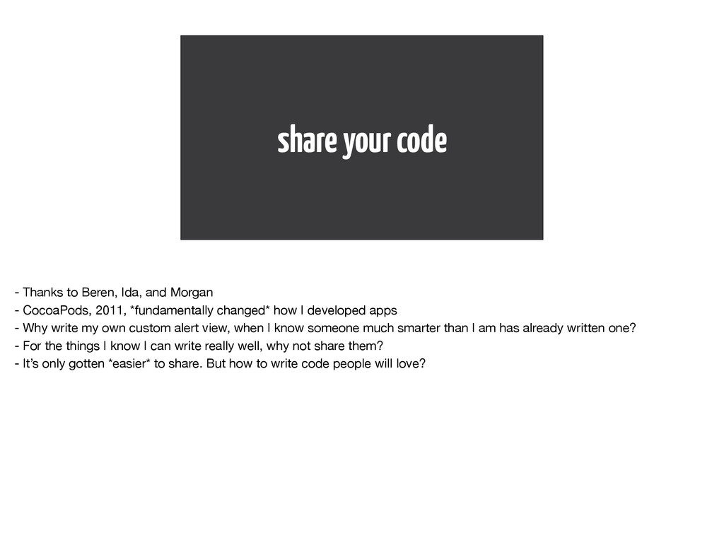 share your code - Thanks to Beren, Ida, and Mor...