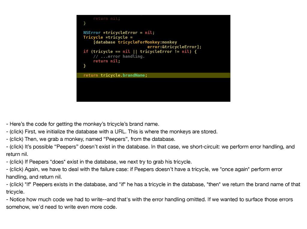 // ...error handling. return nil; } NSError *tr...