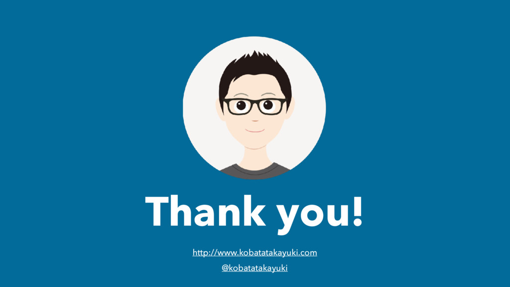 Thank you! http://www.kobatatakayuki.com @kobat...