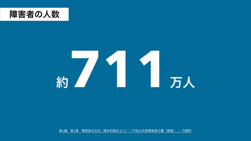  711 ສਓ ୈ1ฤɹୈ1ষɹোऀͷঢ়گʢجຊత౷ܭΑΓʣʛฏ25োऀനॻʢ֓ཁ...