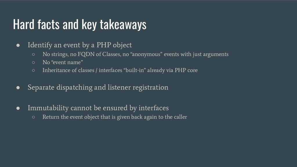 Hard facts and key takeaways ● Identify an even...