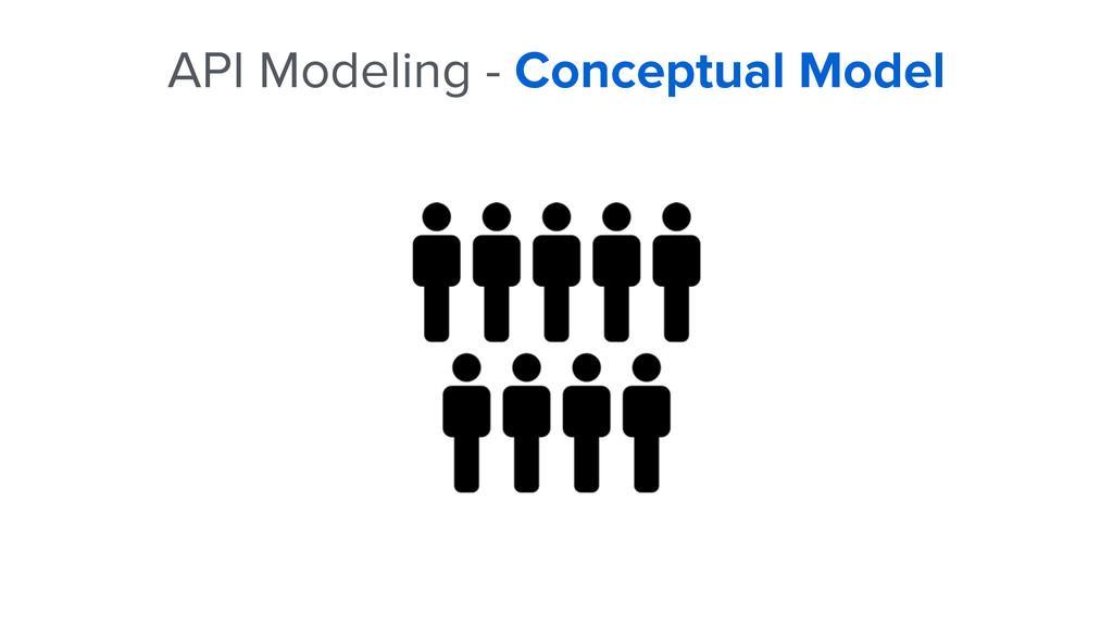 API Modeling - Conceptual Model