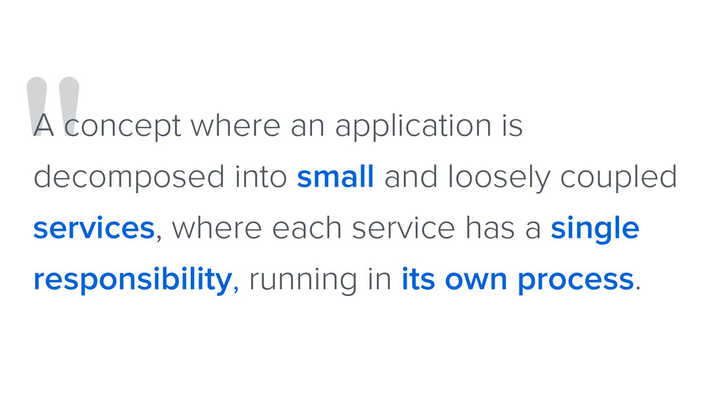 """"""" A concept where an application is decomposed ..."""