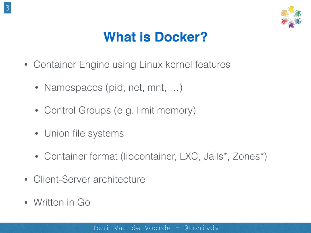 What is Docker? • Container Engine using Linux ...