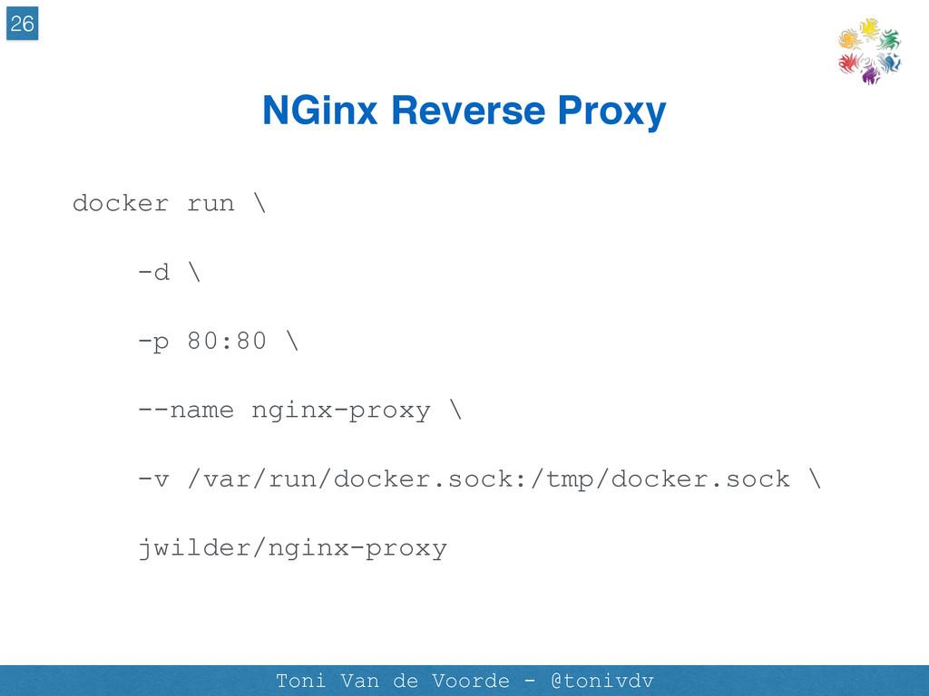 NGinx Reverse Proxy 26 Toni Van de Voorde - @to...