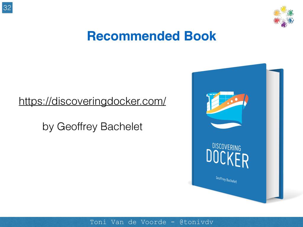 Recommended Book 32 Toni Van de Voorde - @toniv...