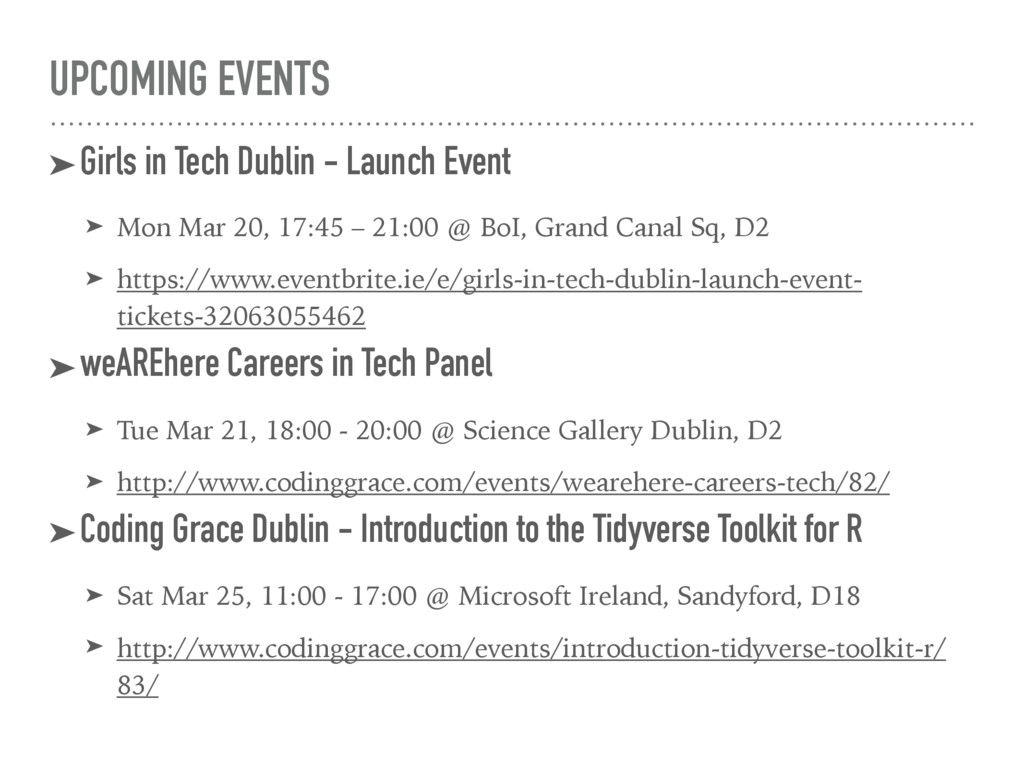 UPCOMING EVENTS ➤Girls in Tech Dublin - Launch ...