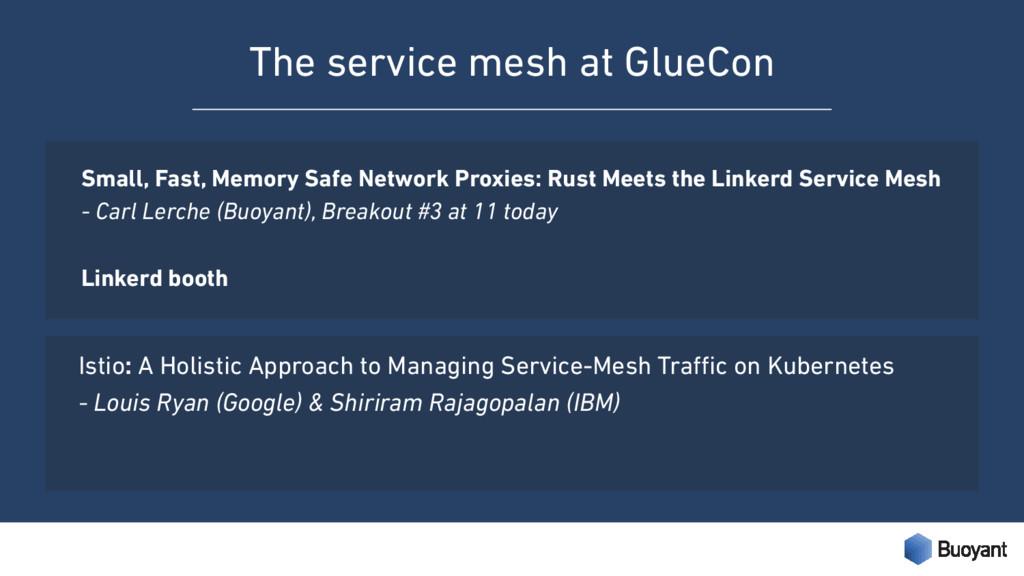 The service mesh at GlueCon Small, Fast, Memory...