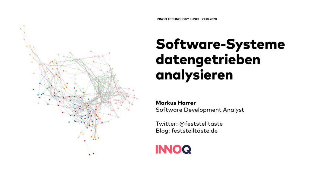 Software-Systeme datengetrieben analysieren INN...