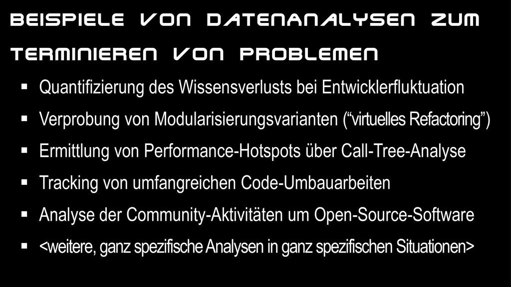 JUDGMENT DAY Beispiele von DatenAnalysen zum Te...