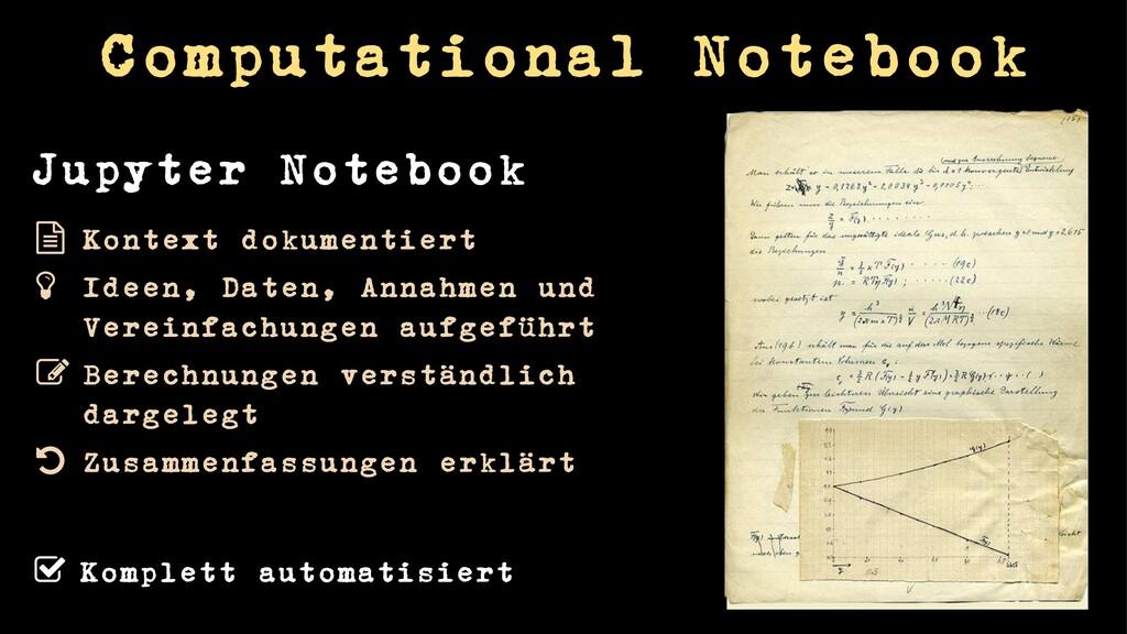 Computational Notebook Komplett automatisiert K...