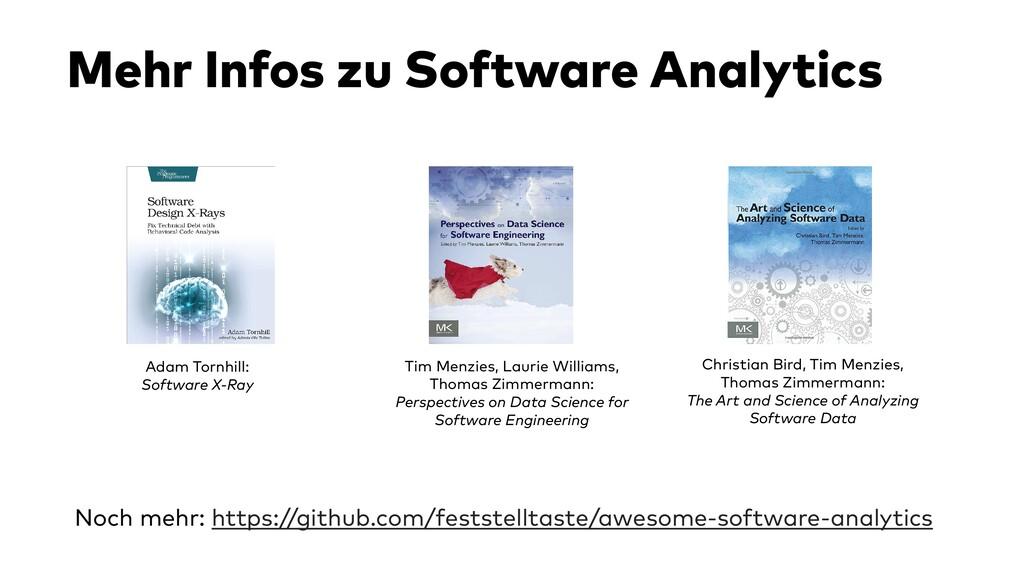 Mehr Infos zu Software Analytics Noch mehr: htt...