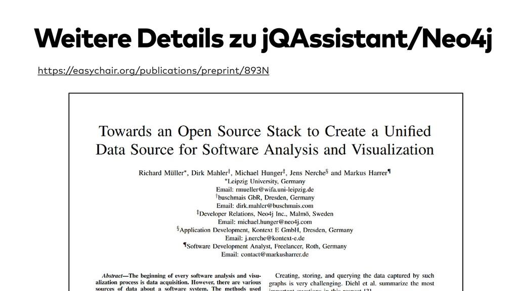 Weitere Details zu jQAssistant/Neo4j https://ea...