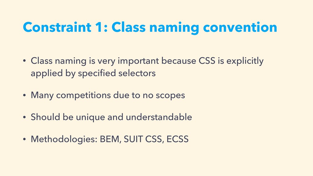 Constraint 1: Class naming convention • Class n...