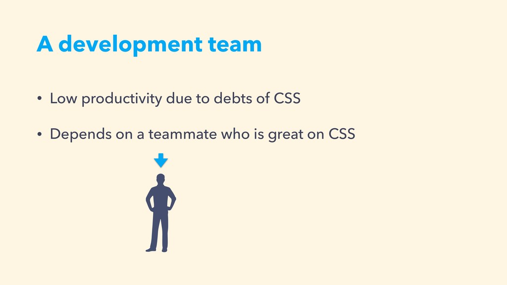 A development team • Low productivity due to de...