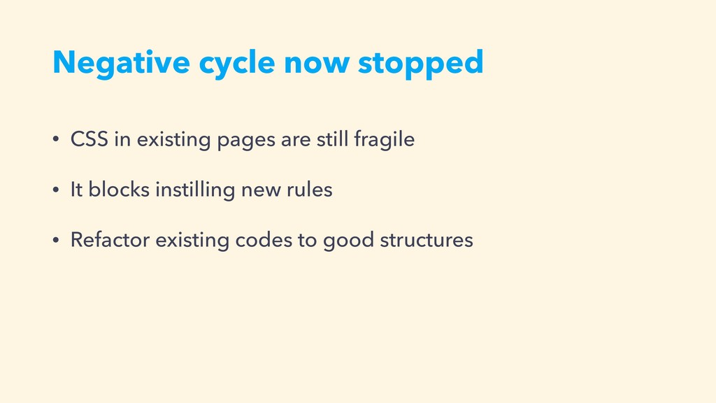 Negative cycle now stopped • CSS in existing pa...