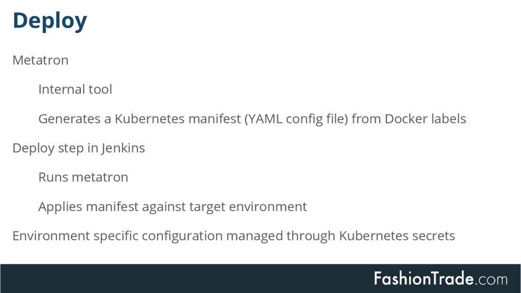 Deploy Metatron Internal tool Generates a Kuber...