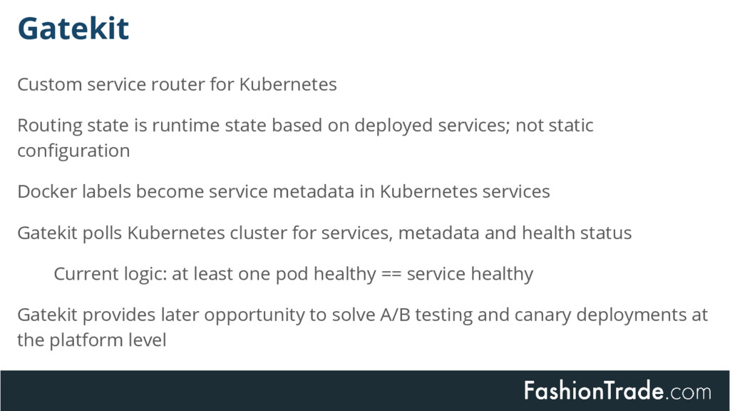 Custom service router for Kubernetes Routing st...