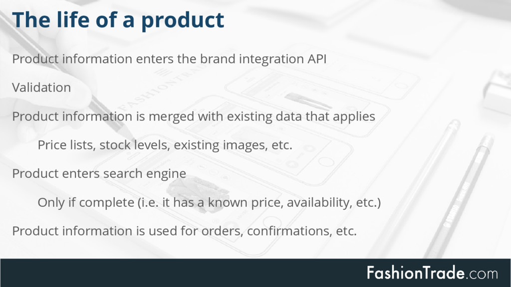 Product information enters the brand integratio...