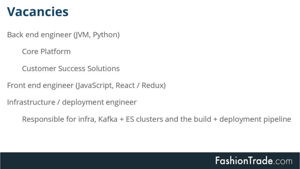 Vacancies Back end engineer (JVM, Python) Core ...