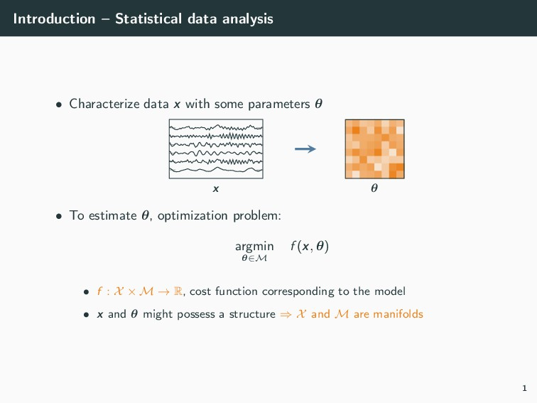 Introduction – Statistical data analysis • Char...