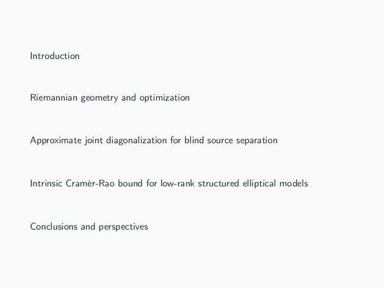 Introduction Riemannian geometry and optimizati...