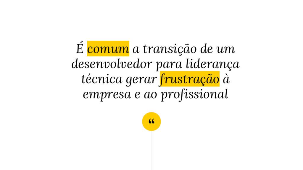 """"""" É comum a transição de um desenvolvedor para ..."""