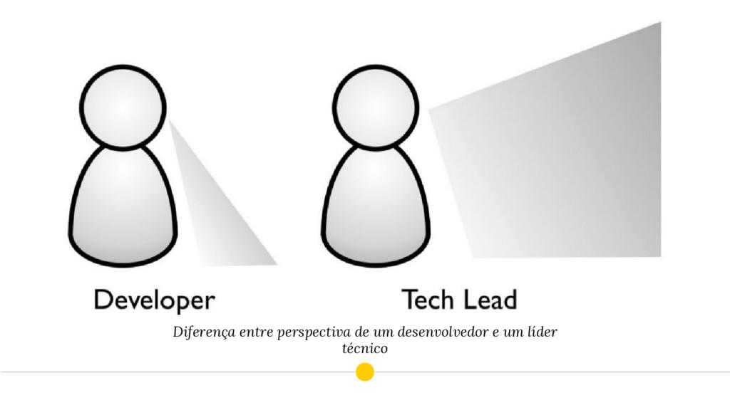 Diferença entre perspectiva de um desenvolvedor...