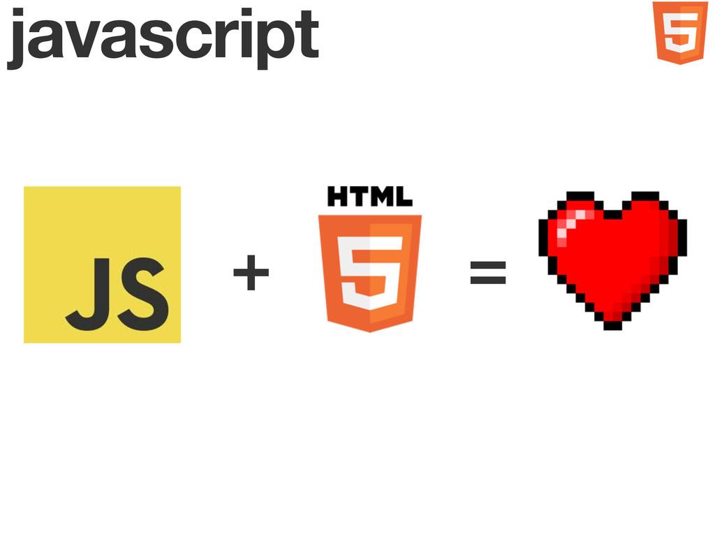 javascript + =