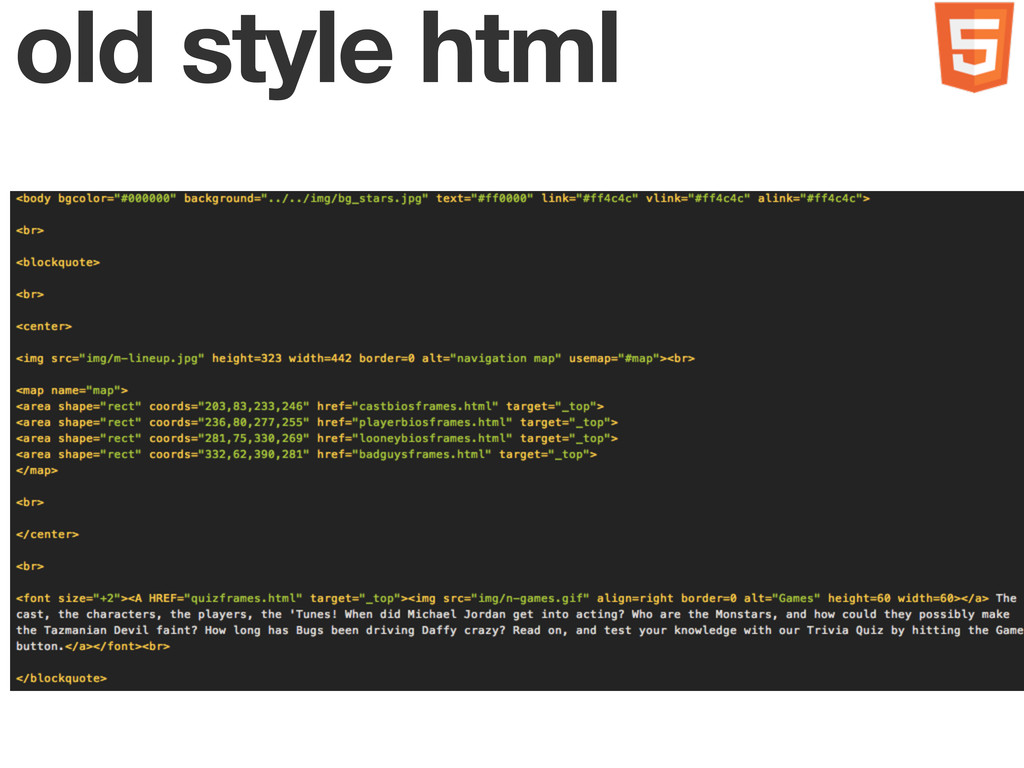 old style html