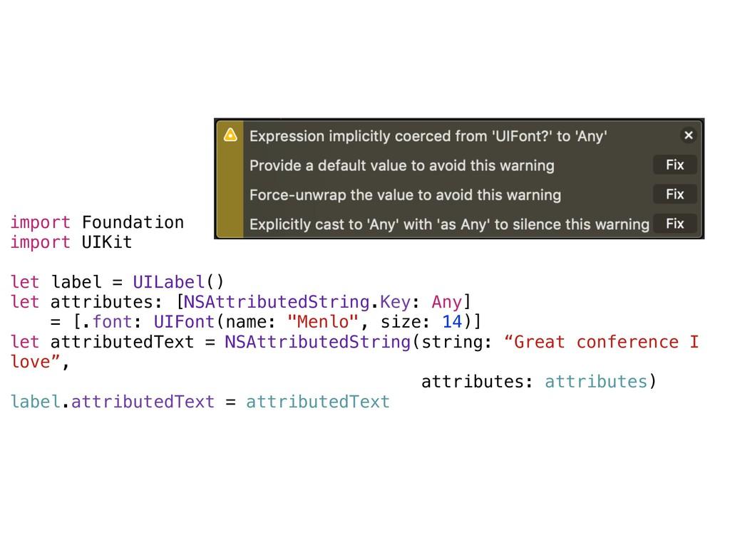 import Foundation import UIKit let label = UILa...