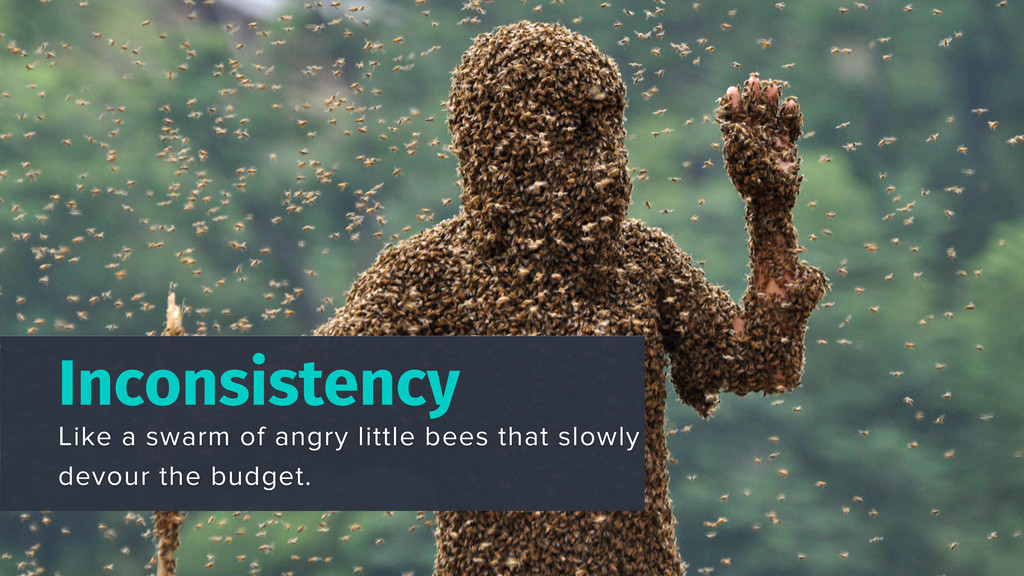 Inconsistency Like a swarm of angry little bees...