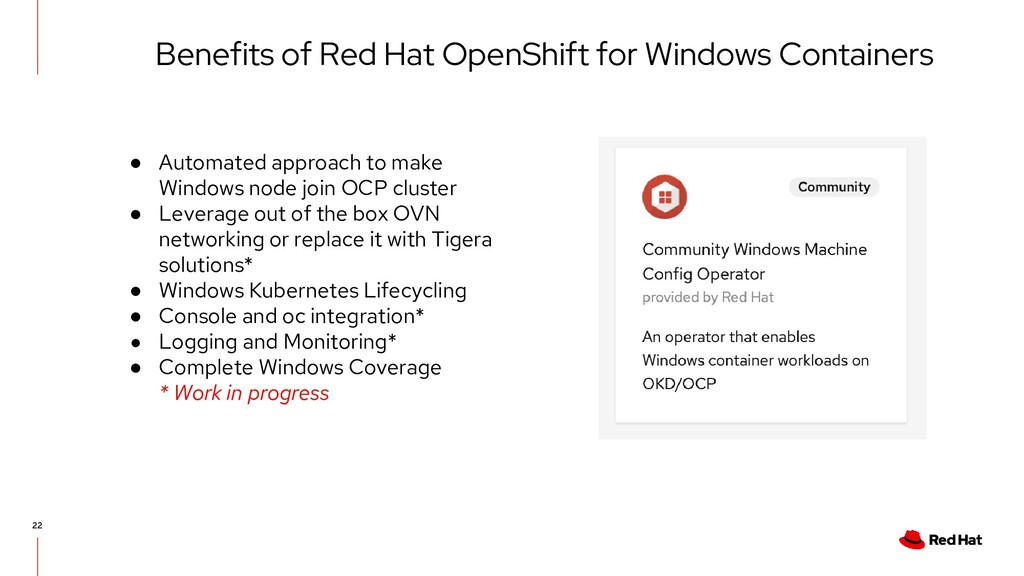 Benefits of Red Hat OpenShift for Windows Conta...