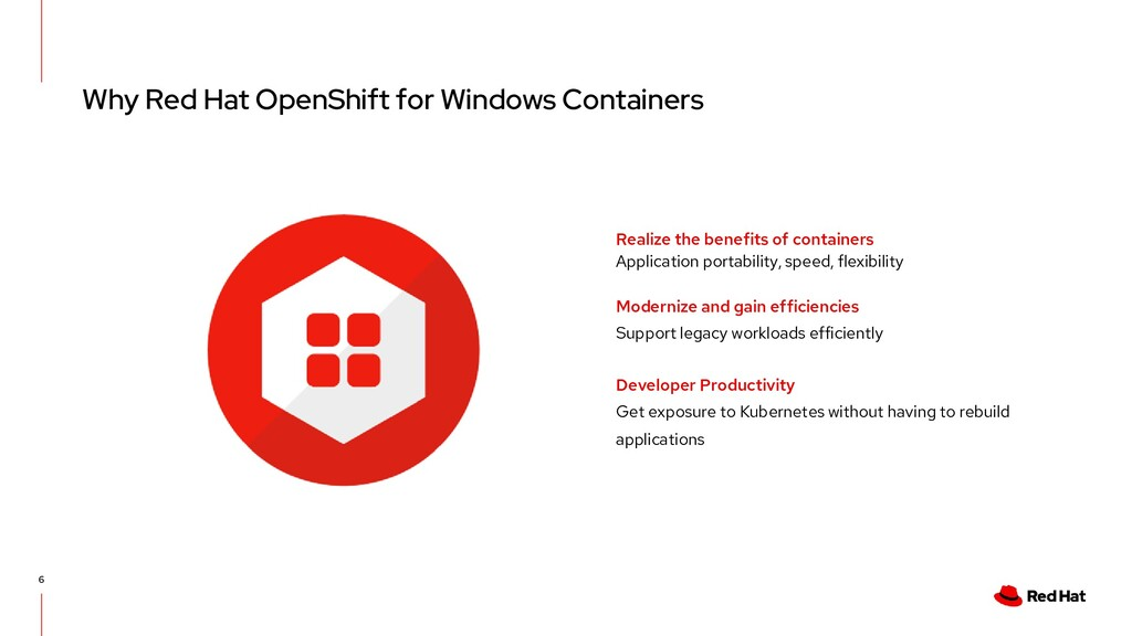 Why Red Hat OpenShift for Windows Containers 6 ...