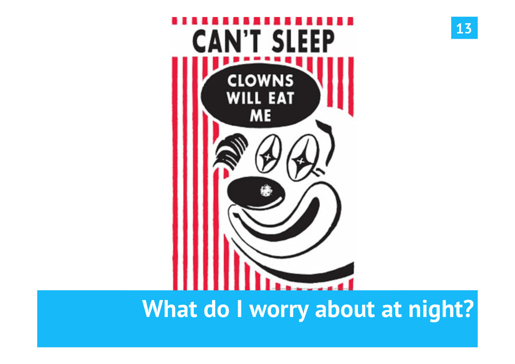 What do I worry about at night? 13