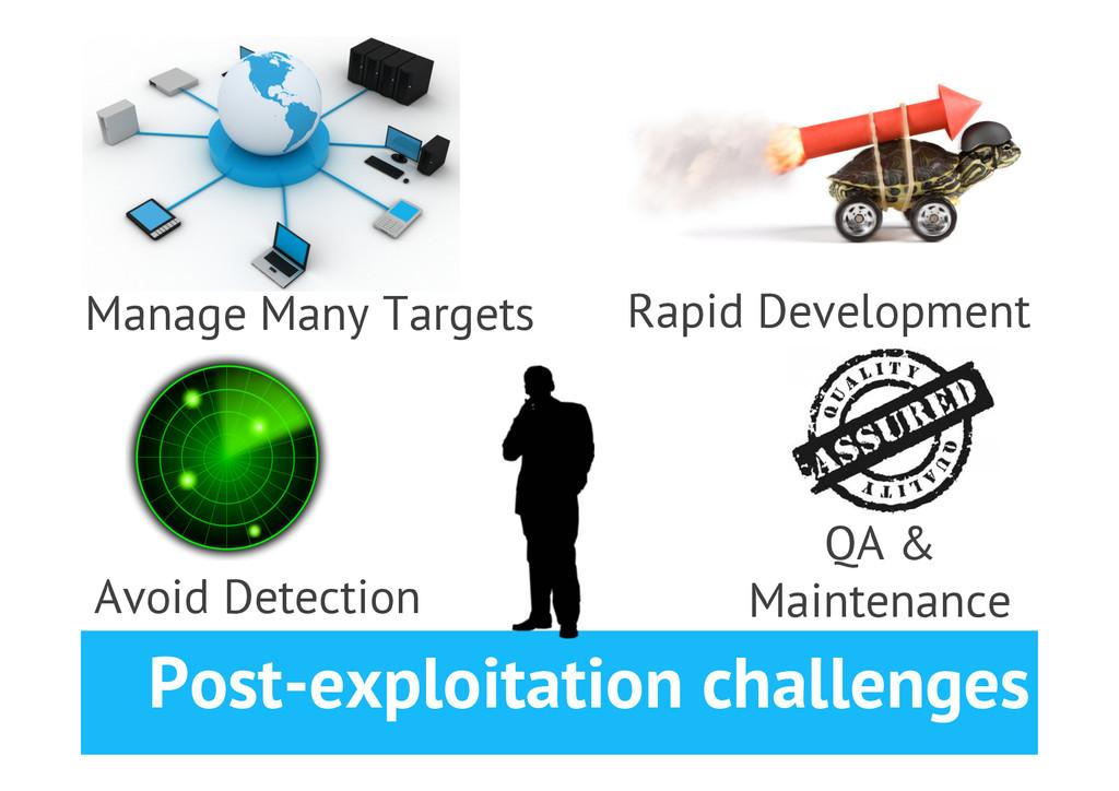 Post-exploitation challenges 24 Avoid Detection...