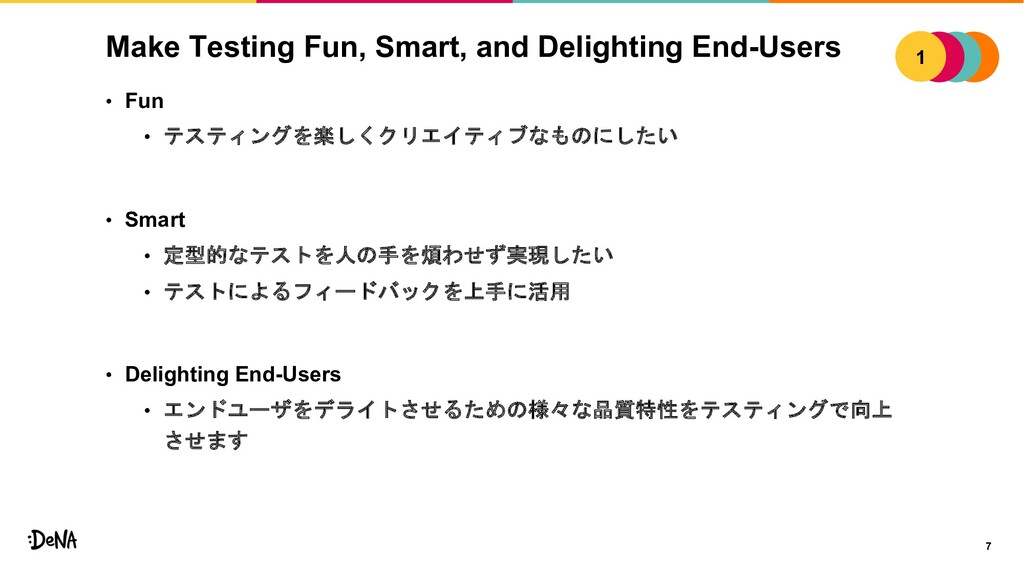 Make Testing Fun, Smart, and Delighting End-Use...