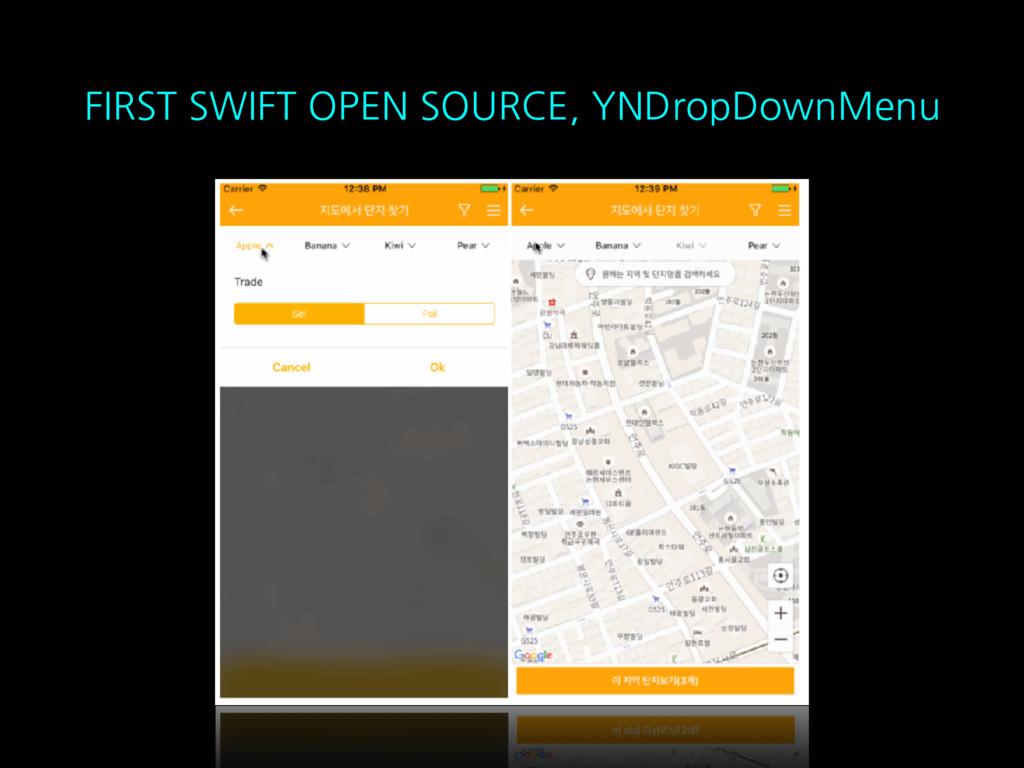 FIRST SWIFT OPEN SOURCE, YNDropDownMenu